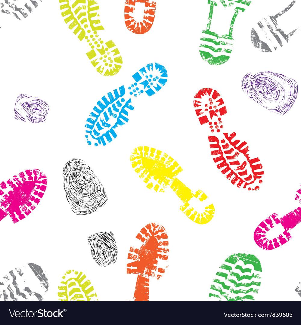 Track shoe seam vector image