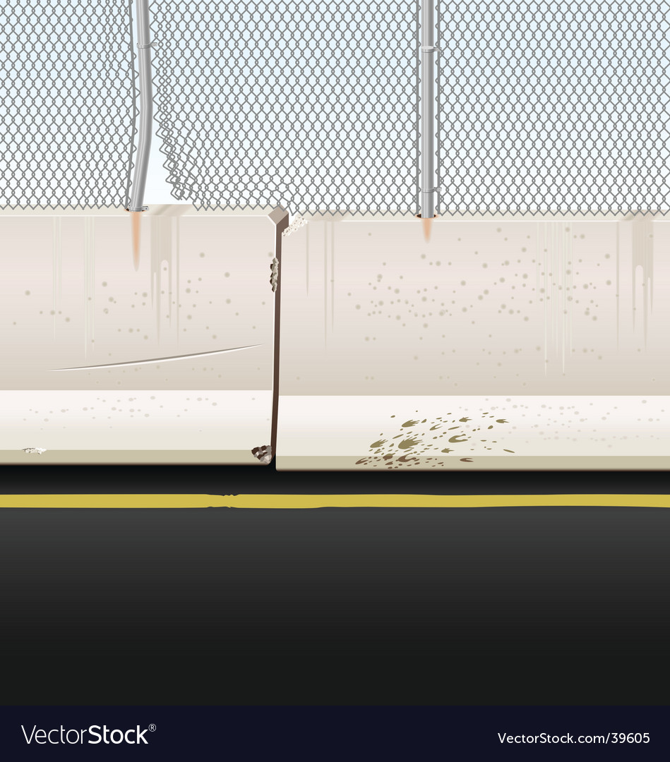 Road barriers vector image