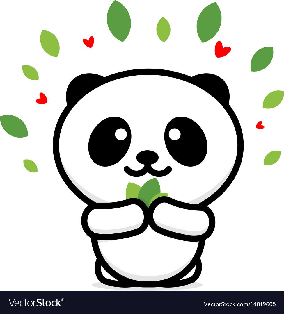 Smiling logo of animal vector image
