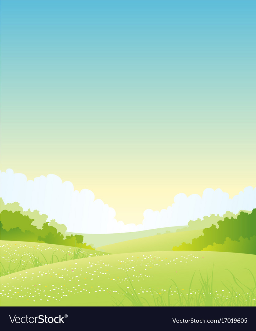 Summer or spring nature landscape vector image