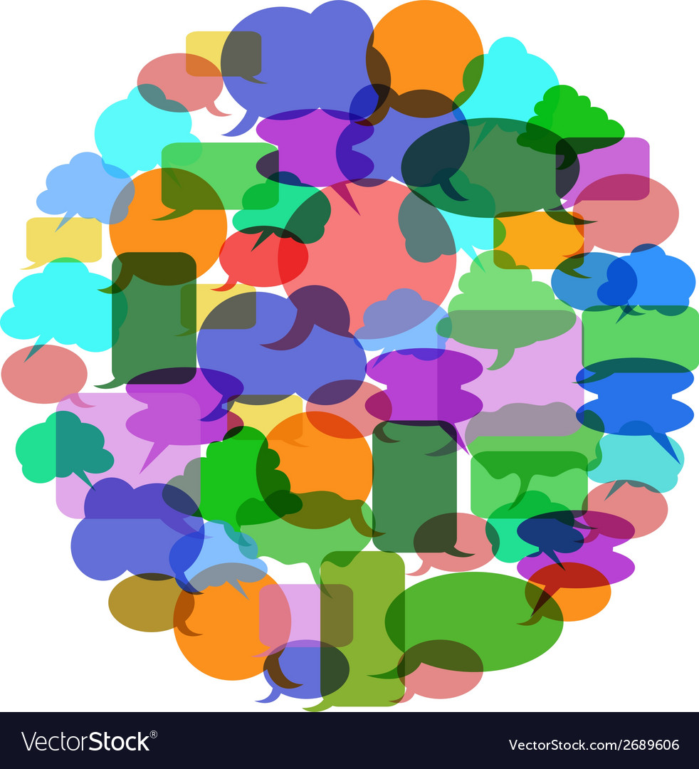 Color speech bubble group vector image