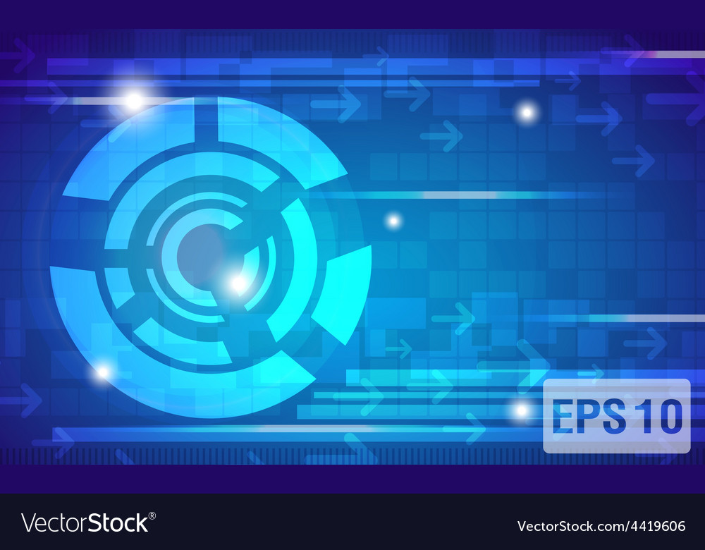 Digital elements of communications and free space vector image