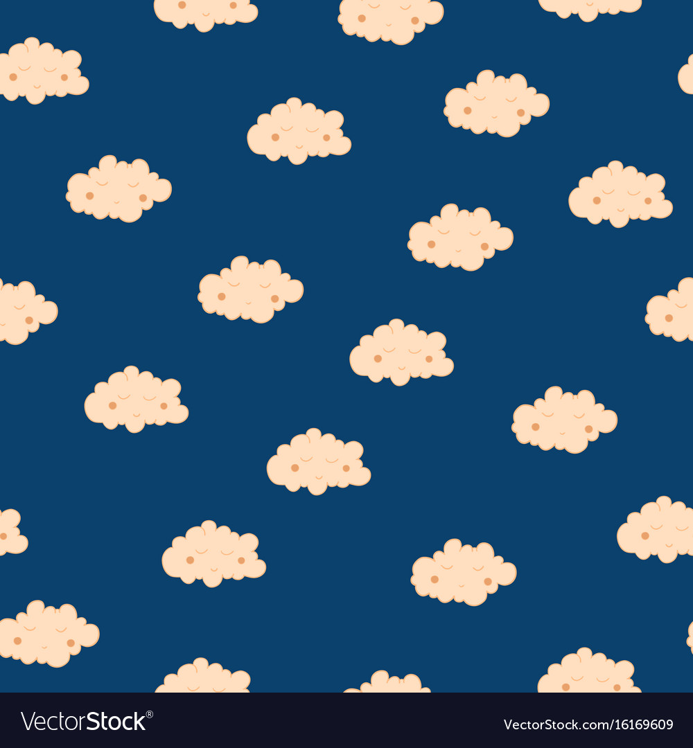 Beautiful seamless pattern with cute sleeping vector image