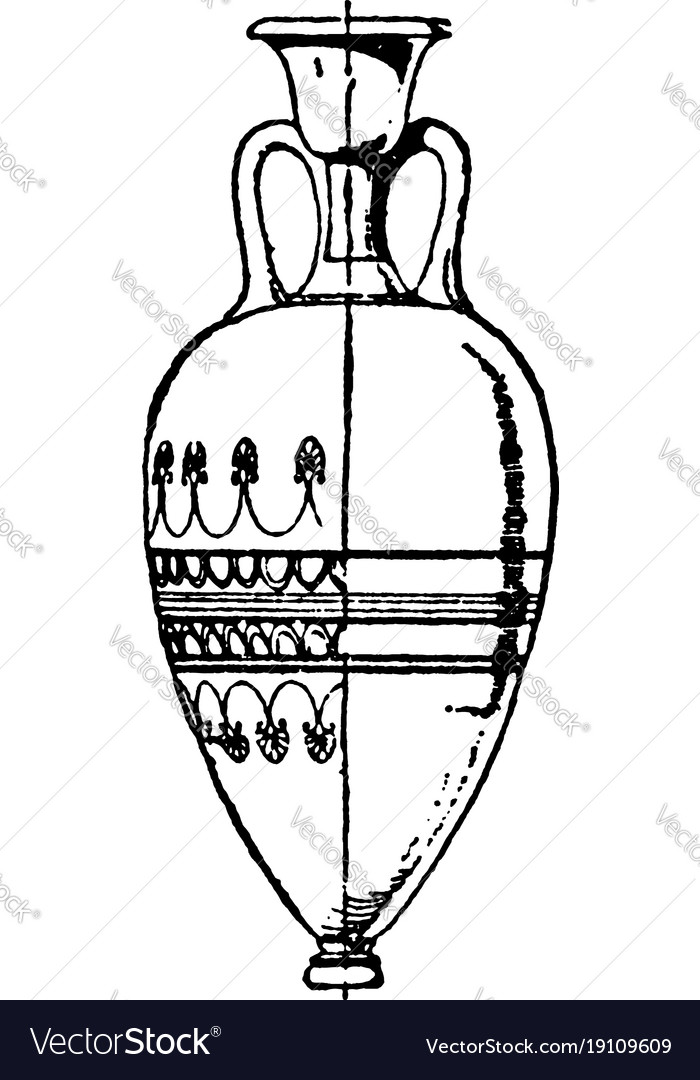 Greek Vase Is A Large Part Of The Lovely Vector Image