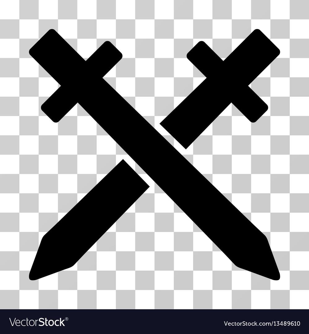Crossing swords icon vector image