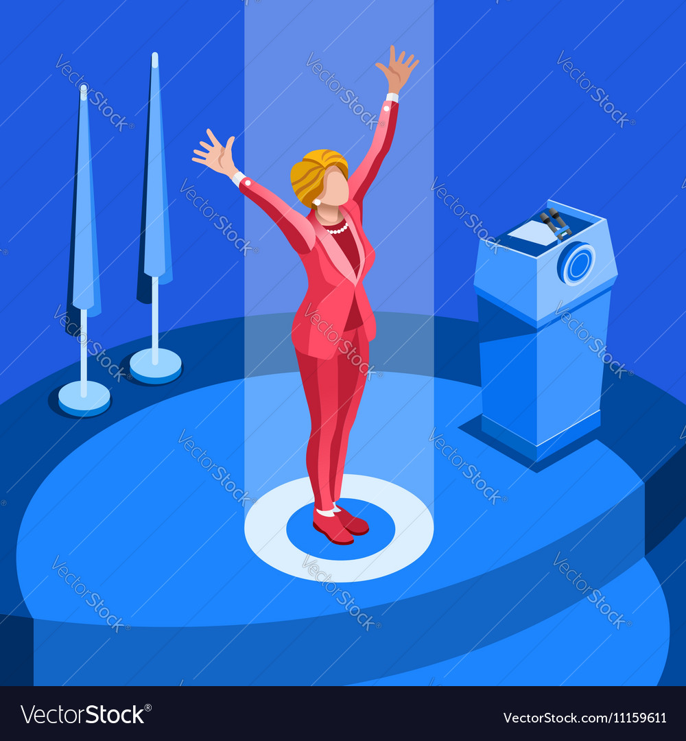 Election Infographic Party Convention Isometric vector image