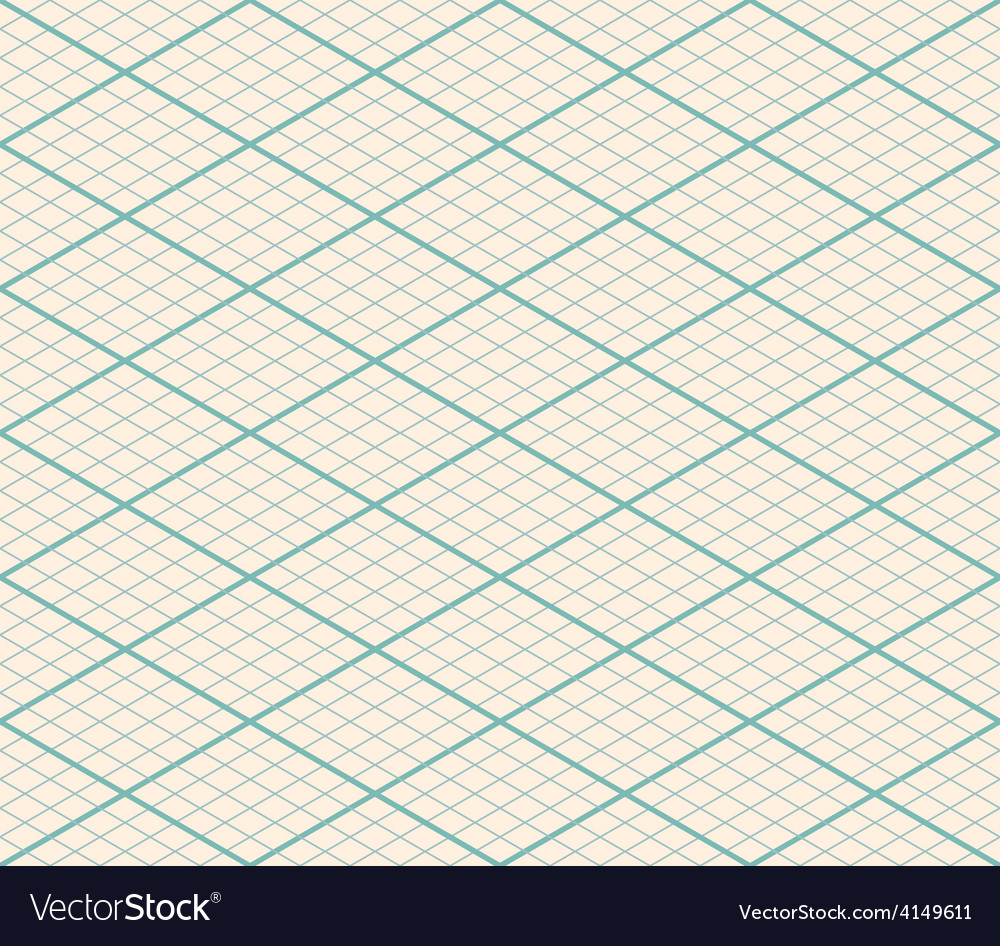 Isometric Seamless Grid Background - Thirty Degree vector image