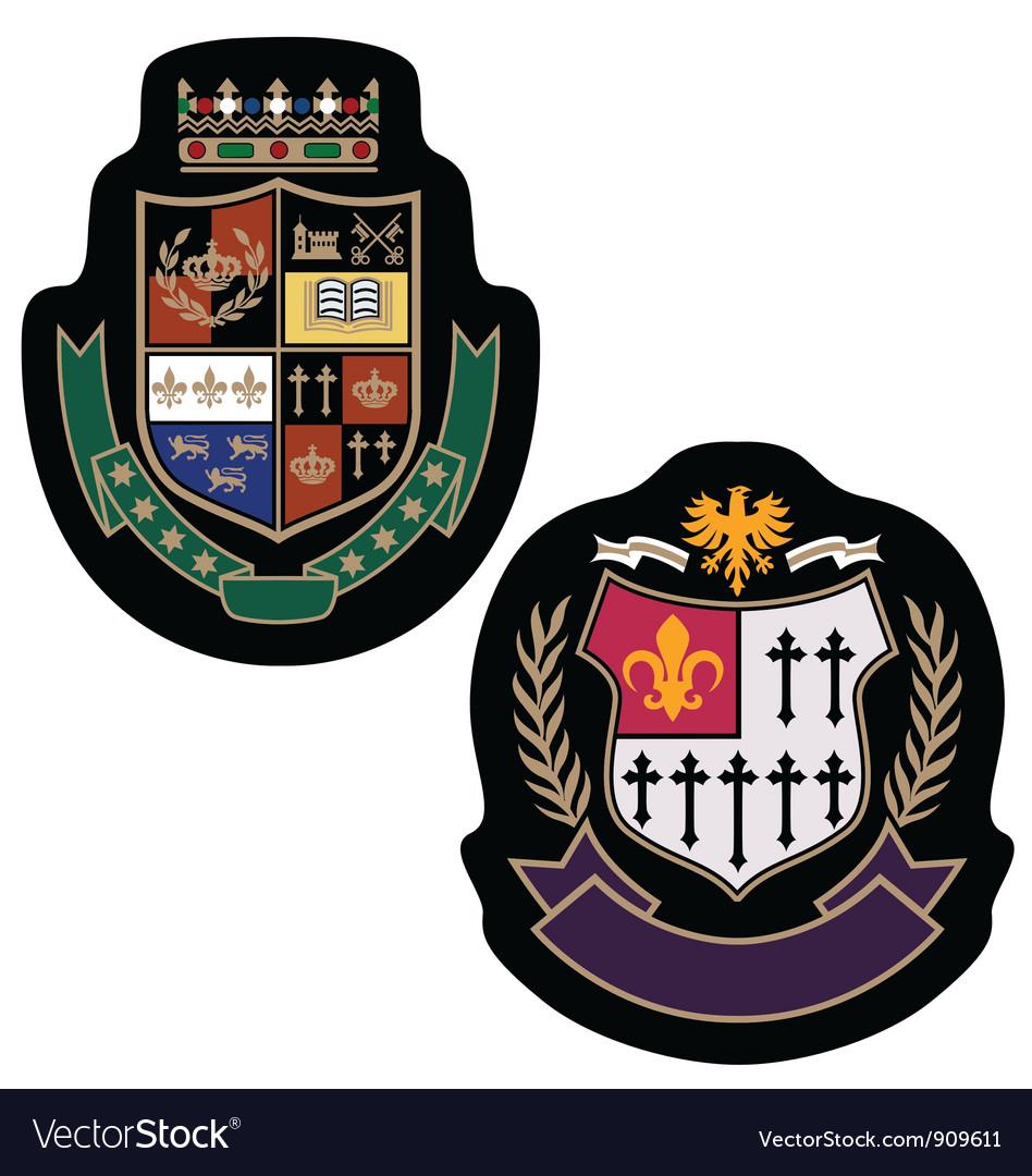 Royal crown college badge vector image