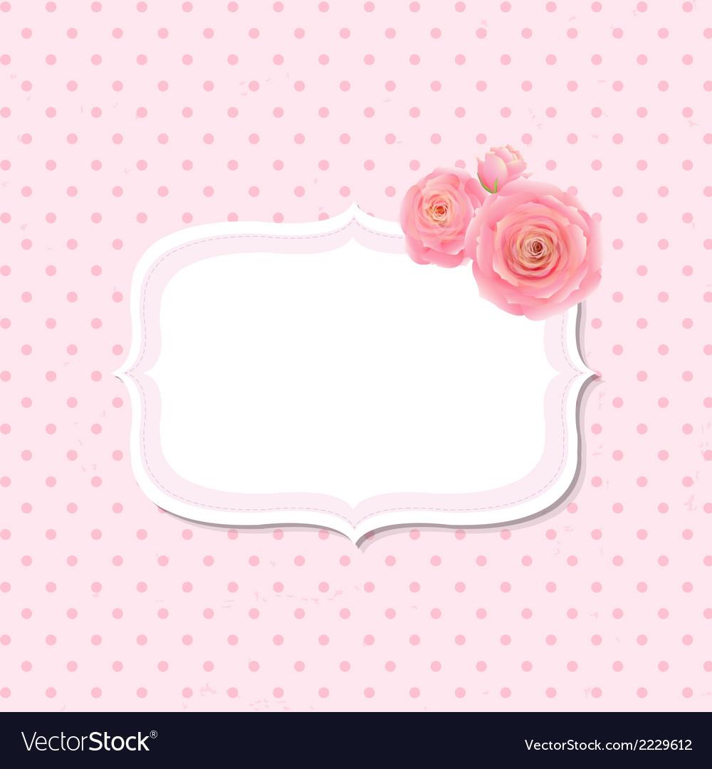 Pink Rose Label vector image