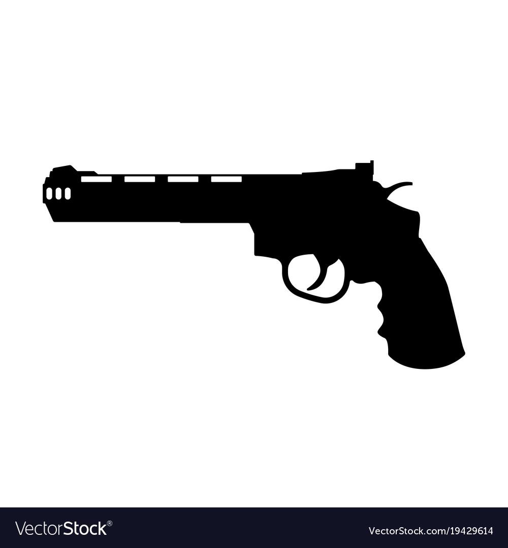 Black silhouette of gun vector image