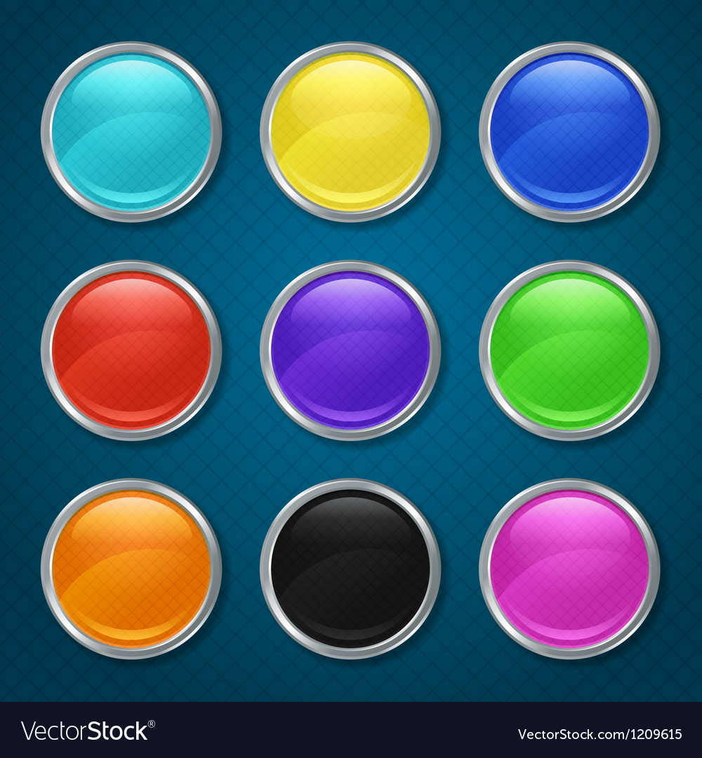 Round patterned icons for the app vector image