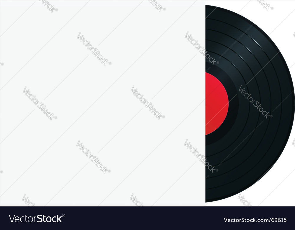 Vinyl record in sleeve vector image