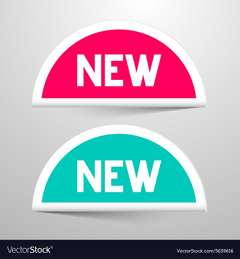 New Paper Labels Set vector image