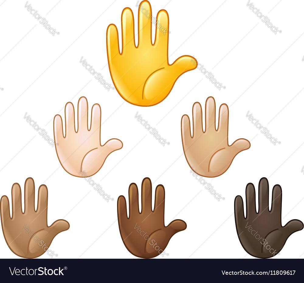 Raised hand emoji royalty free vector image vectorstock raised hand emoji vector image biocorpaavc
