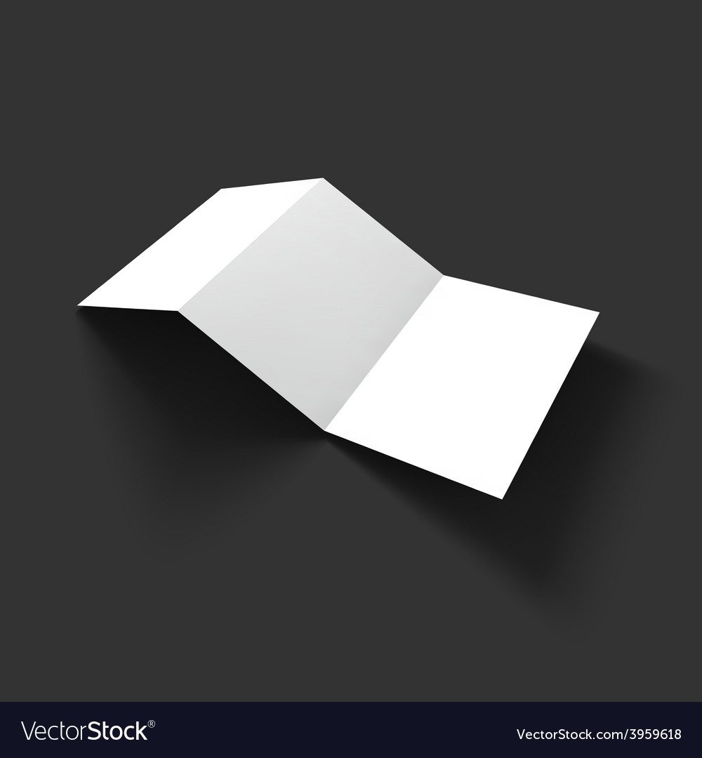 Blank trifold paper brochure mockup template Vector Image