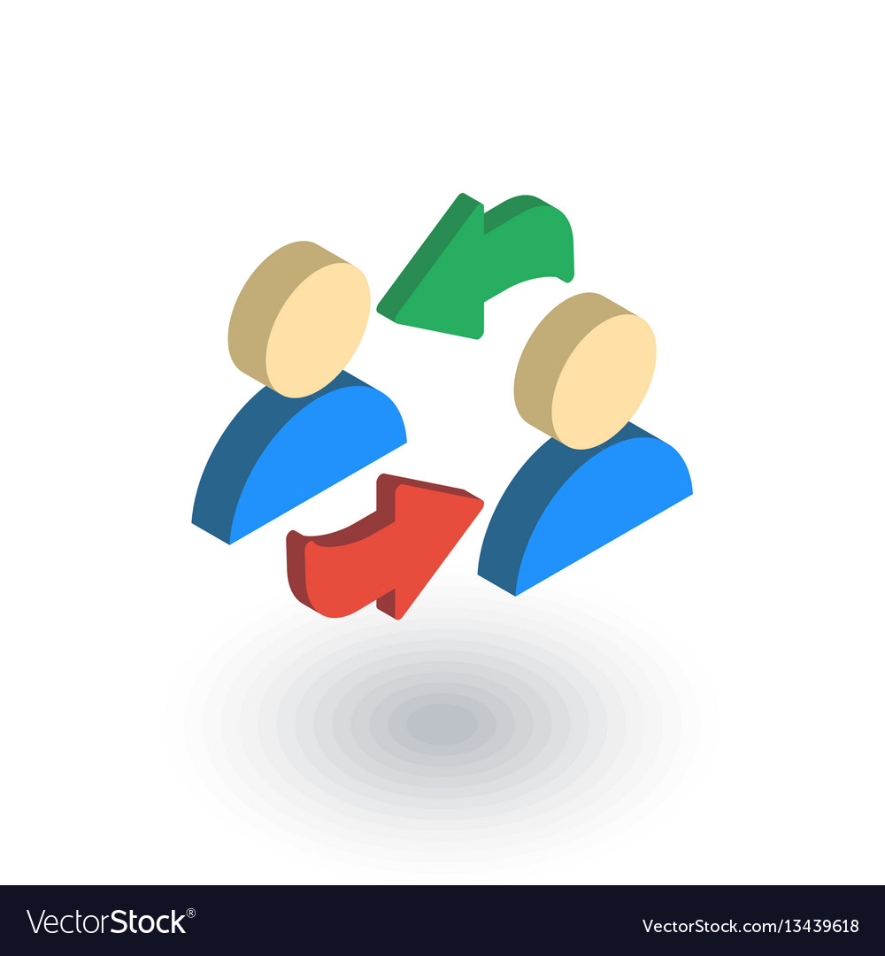 Business refresh social network sharing switch vector image