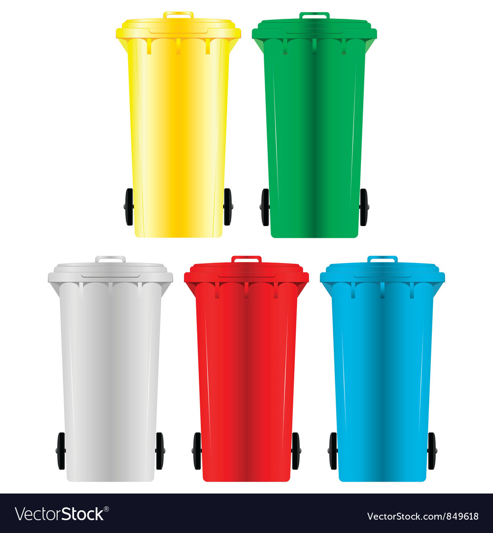 Garbage bins vector image