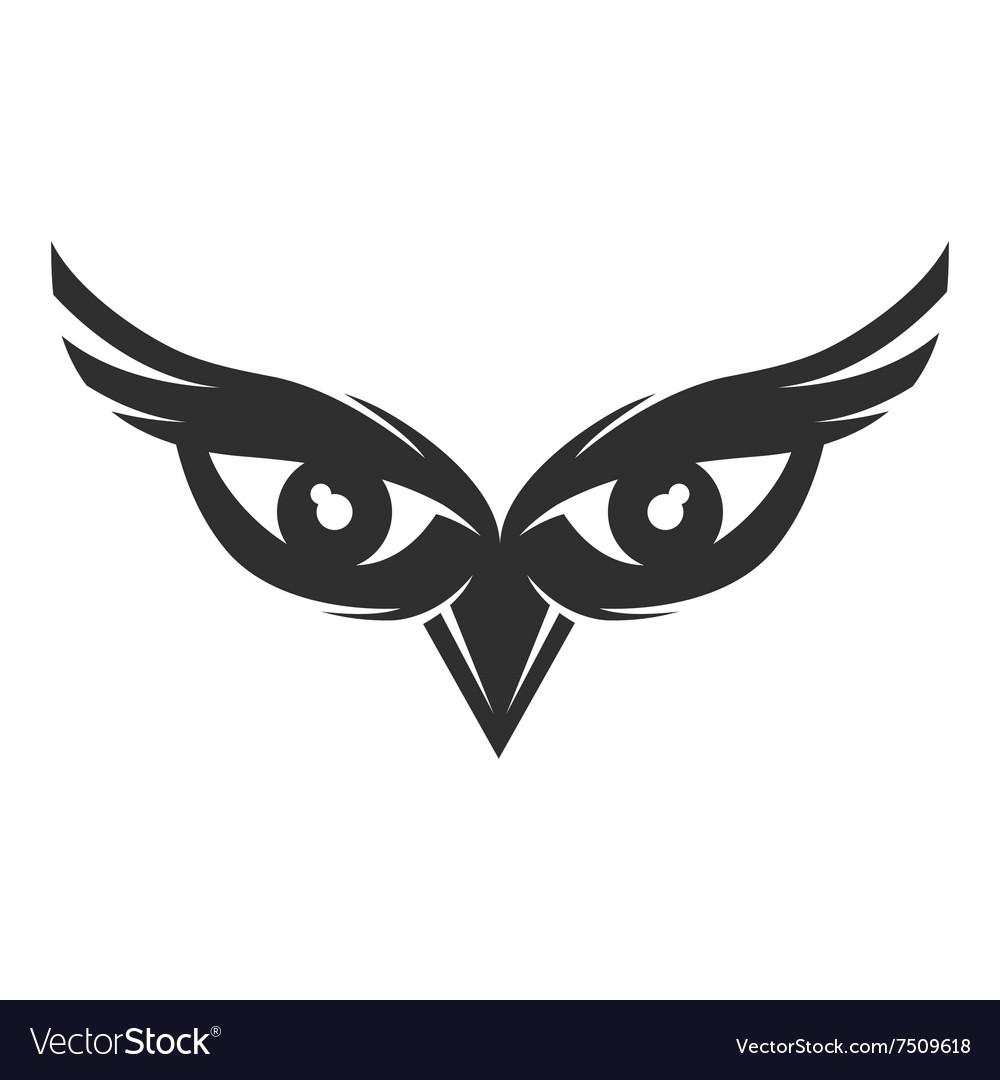 owl eyes logo royalty free vector image vectorstock