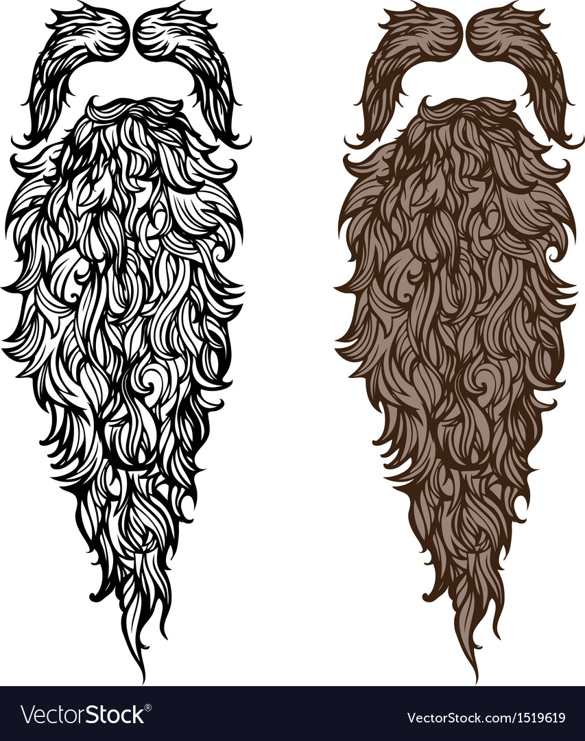Beard and mustache vector image