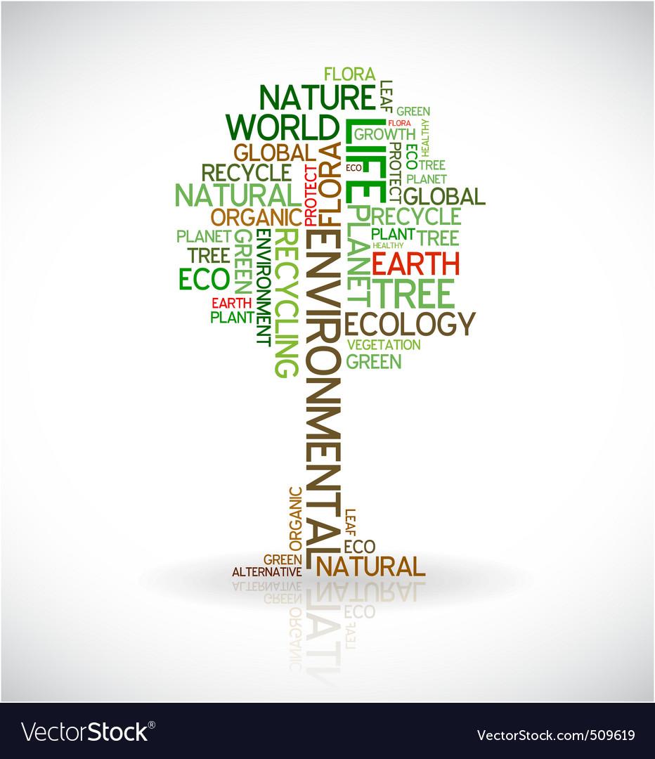 Eco tree typography vector image