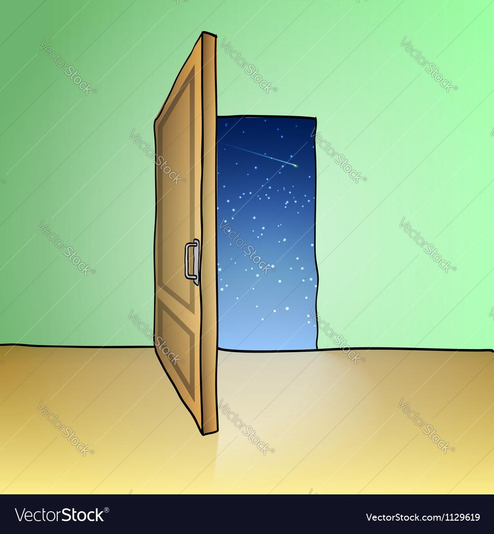 Opened door vector image