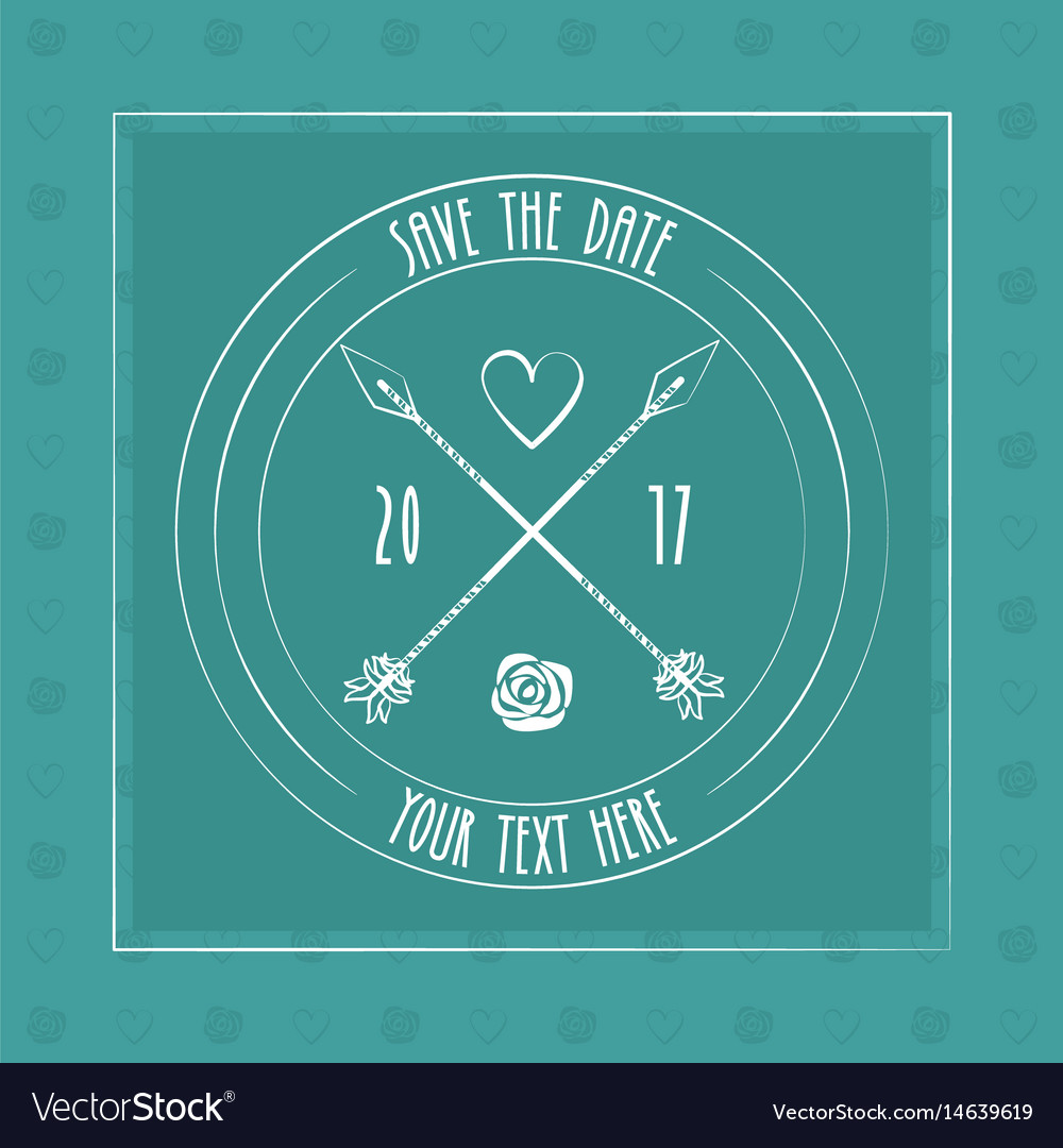 Save the date card decoration invitation arrow vector image