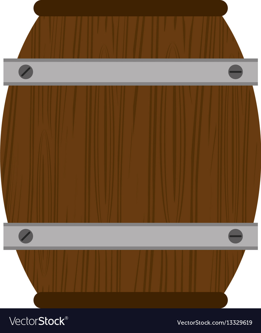 Wooden barrel wine icon vector image