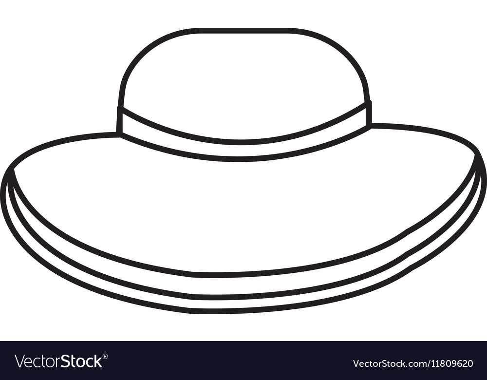 Beach hat isolated icon vector image