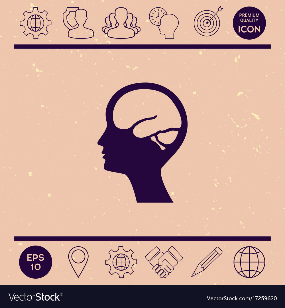 Head with brain symbol icon royalty free vector image head with brain symbol icon vector image biocorpaavc Images