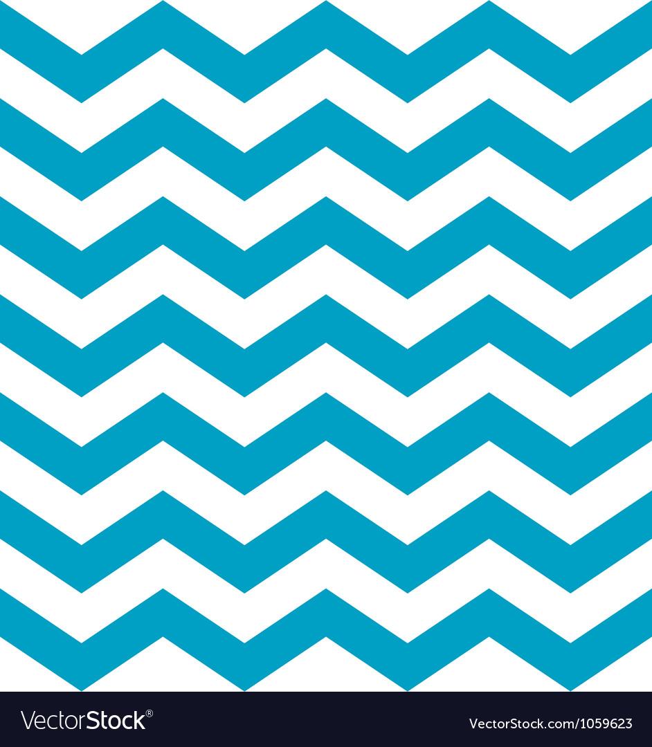 Beautiful aqua blue and white chevron pattern vector image
