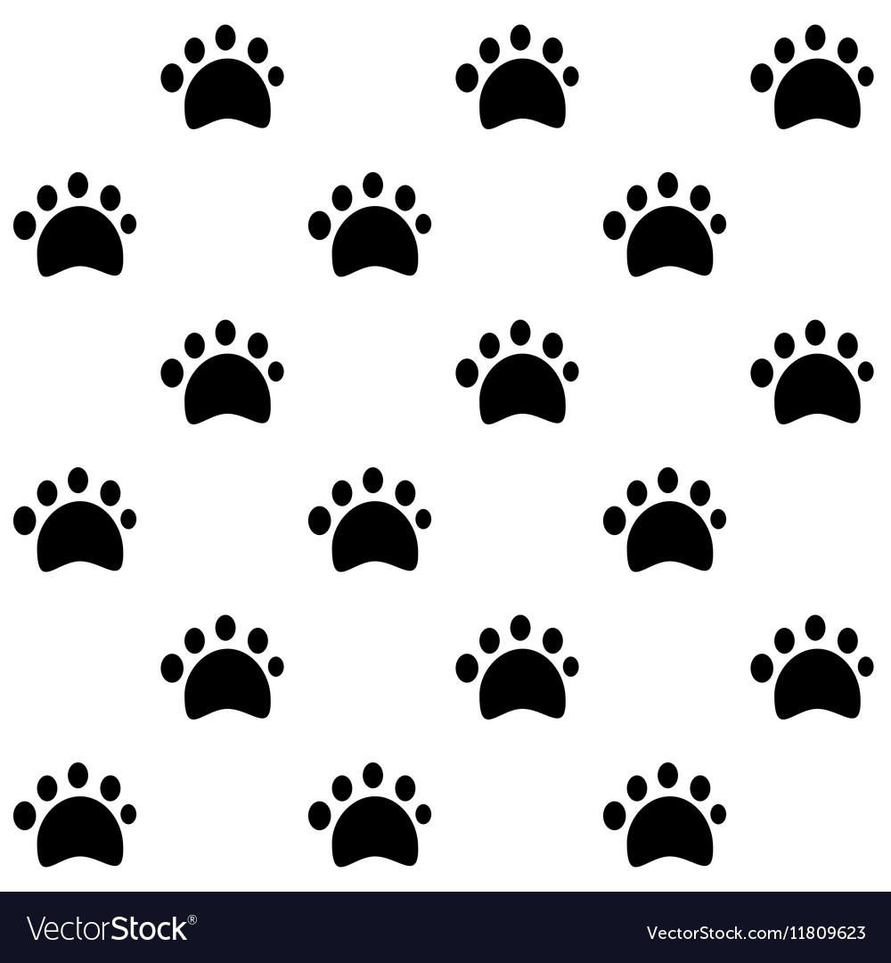Dog Tracks pattern vector image