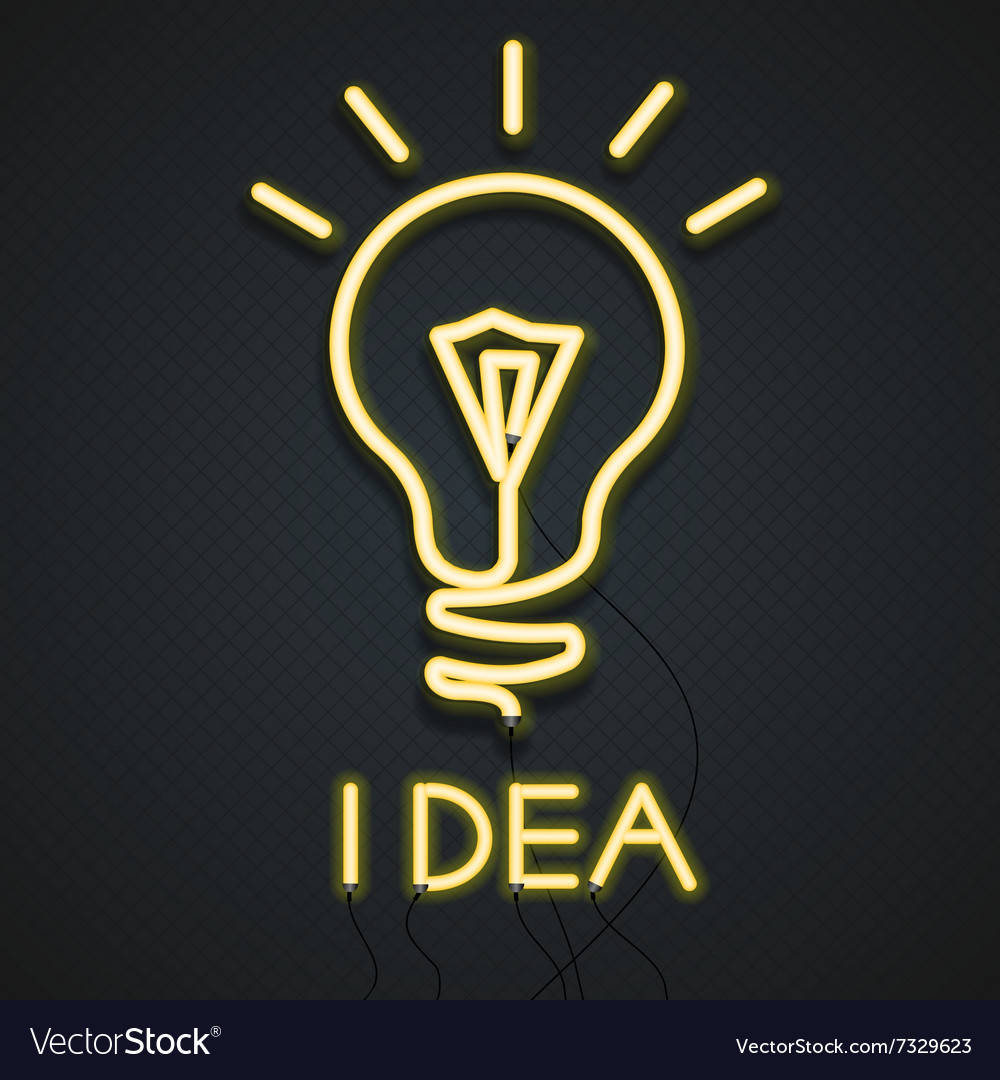 Neon Lamp Idea vector image