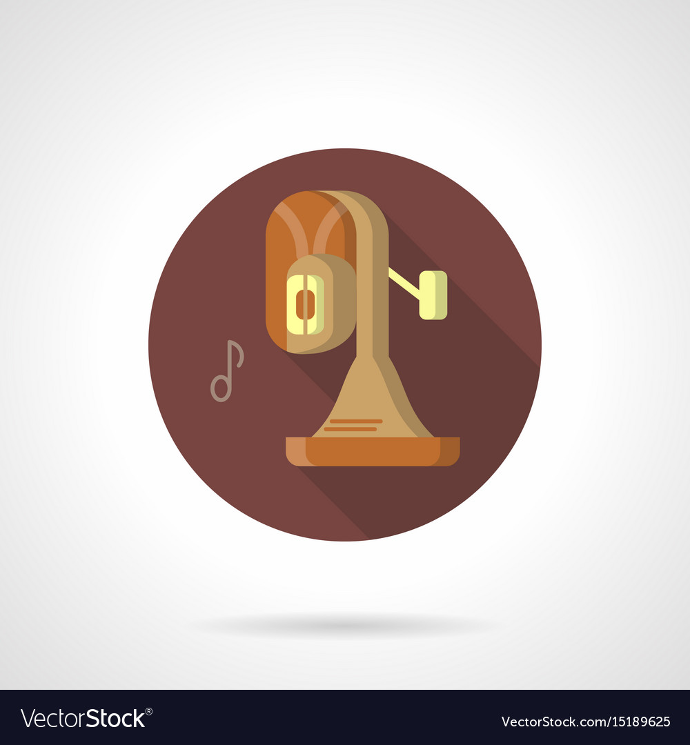 Brass band instrument flat round icon vector image