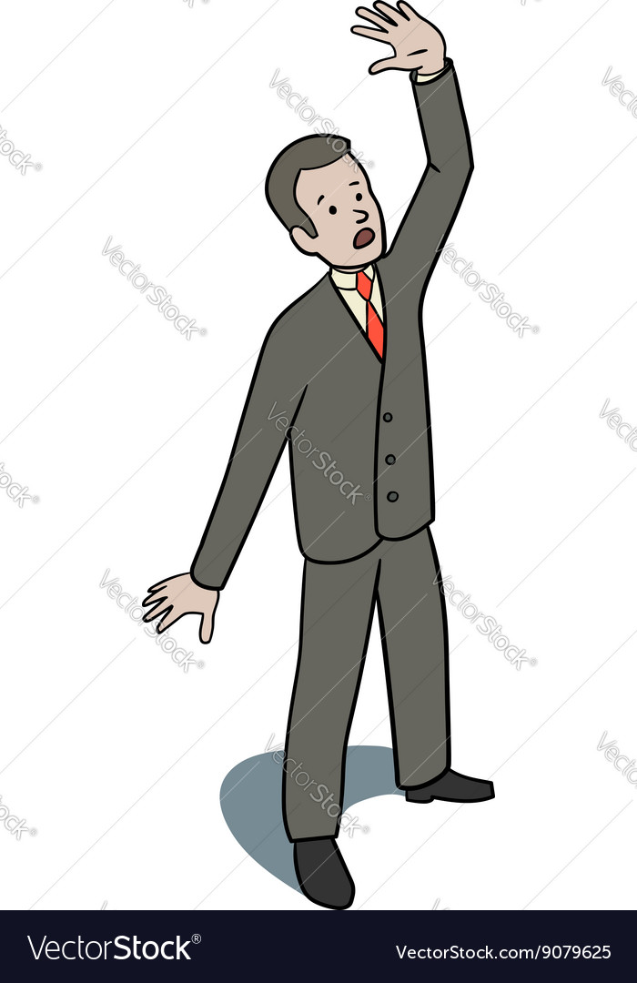 Scared businessman vector image
