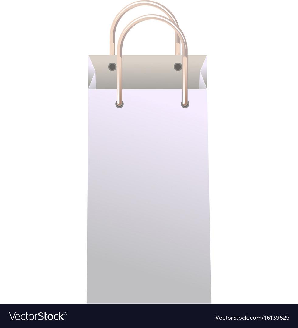 Vertical paper bag vector image