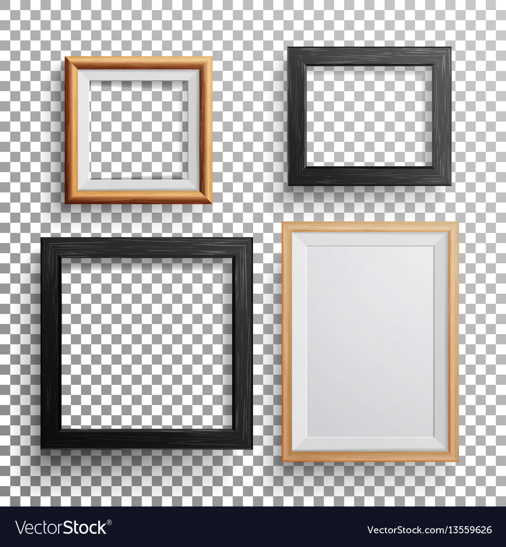 Realistic photo frame 3d set square a3 vector image