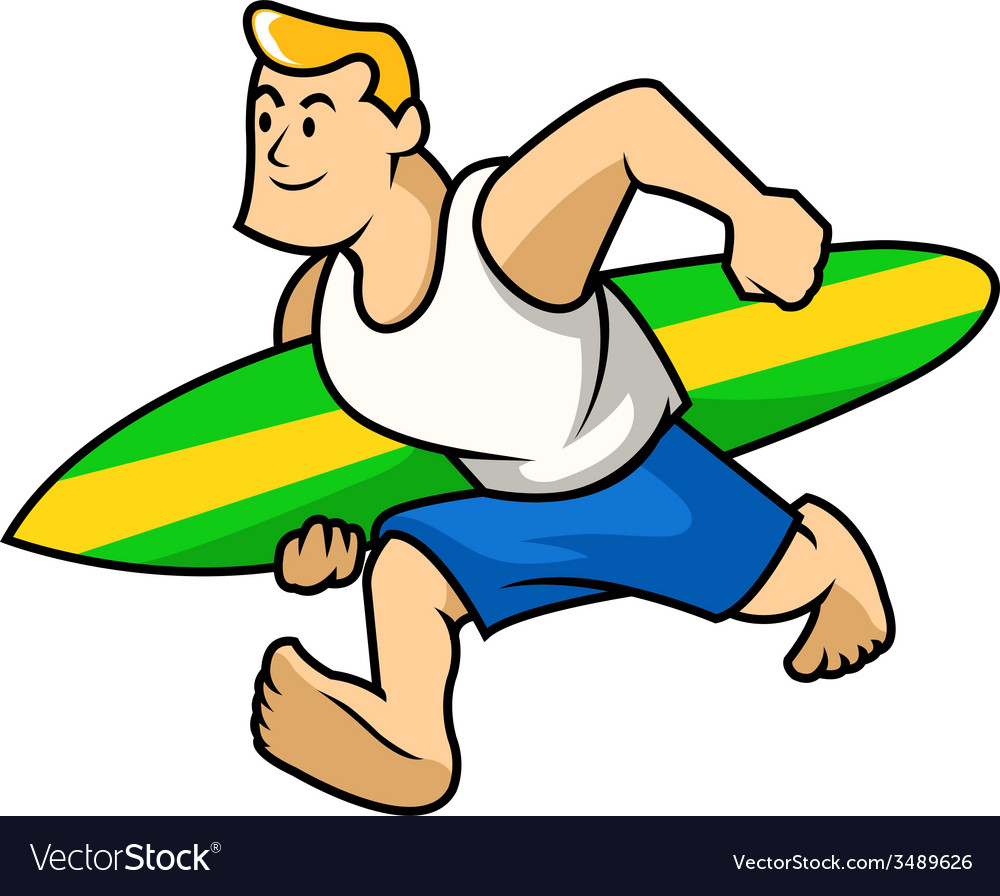 Surfer boy vector image