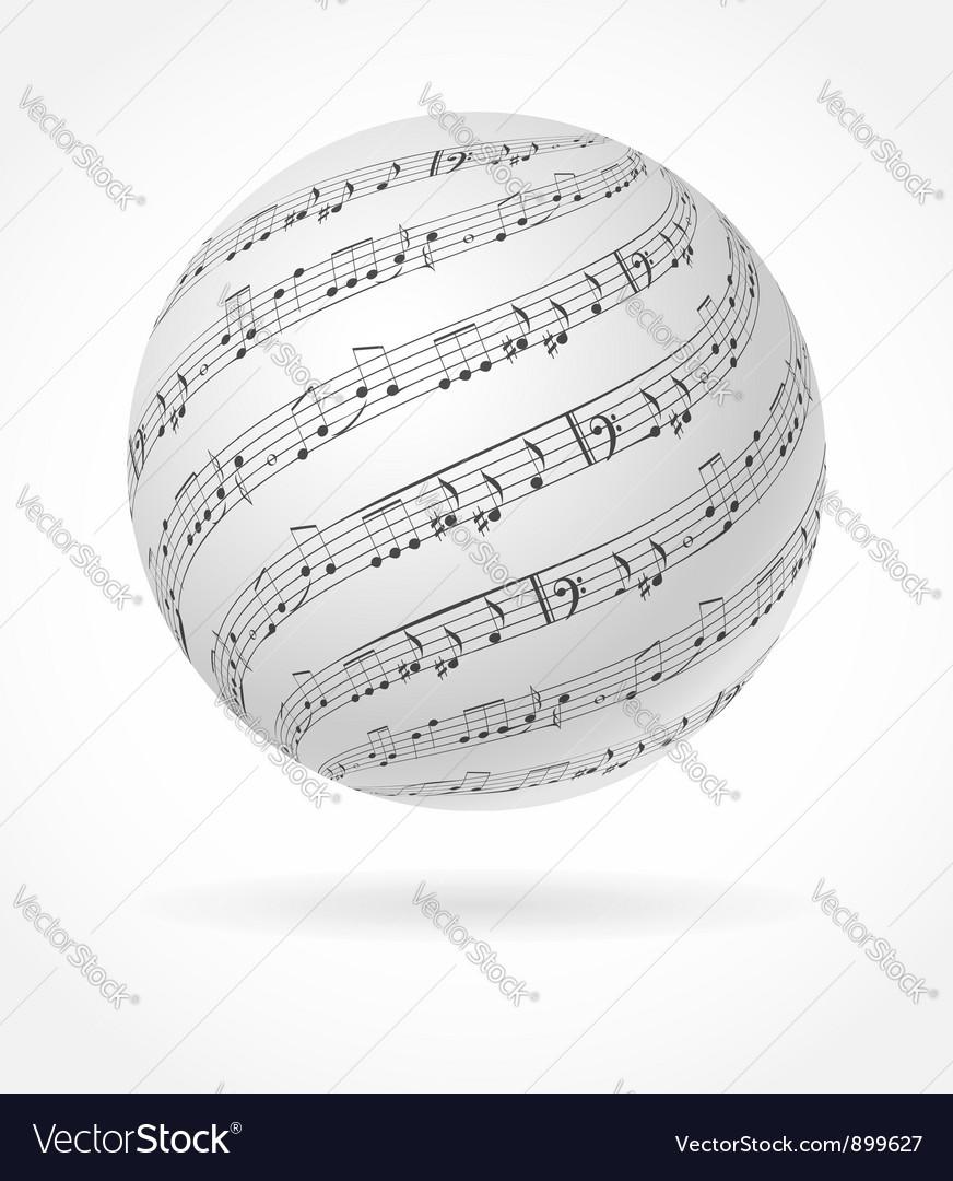 Music globe vector image