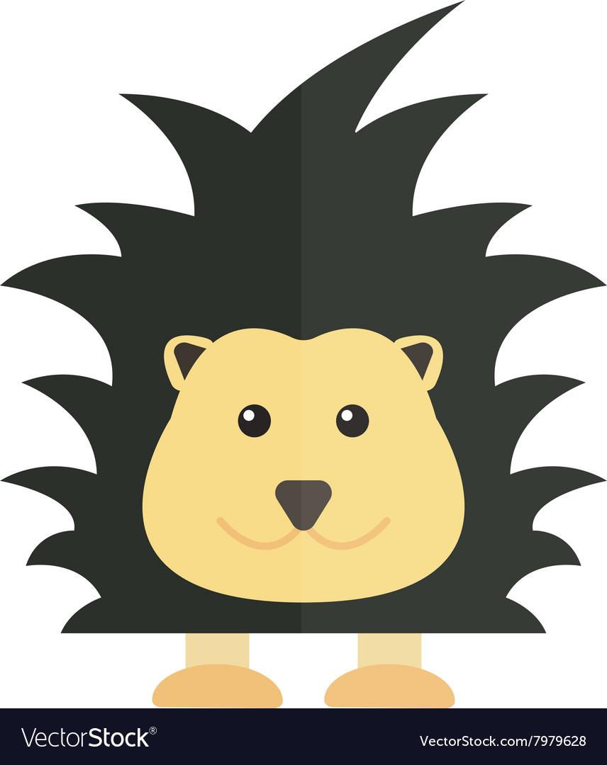 Cute cartoon porcupine australia wildlife echidna vector image