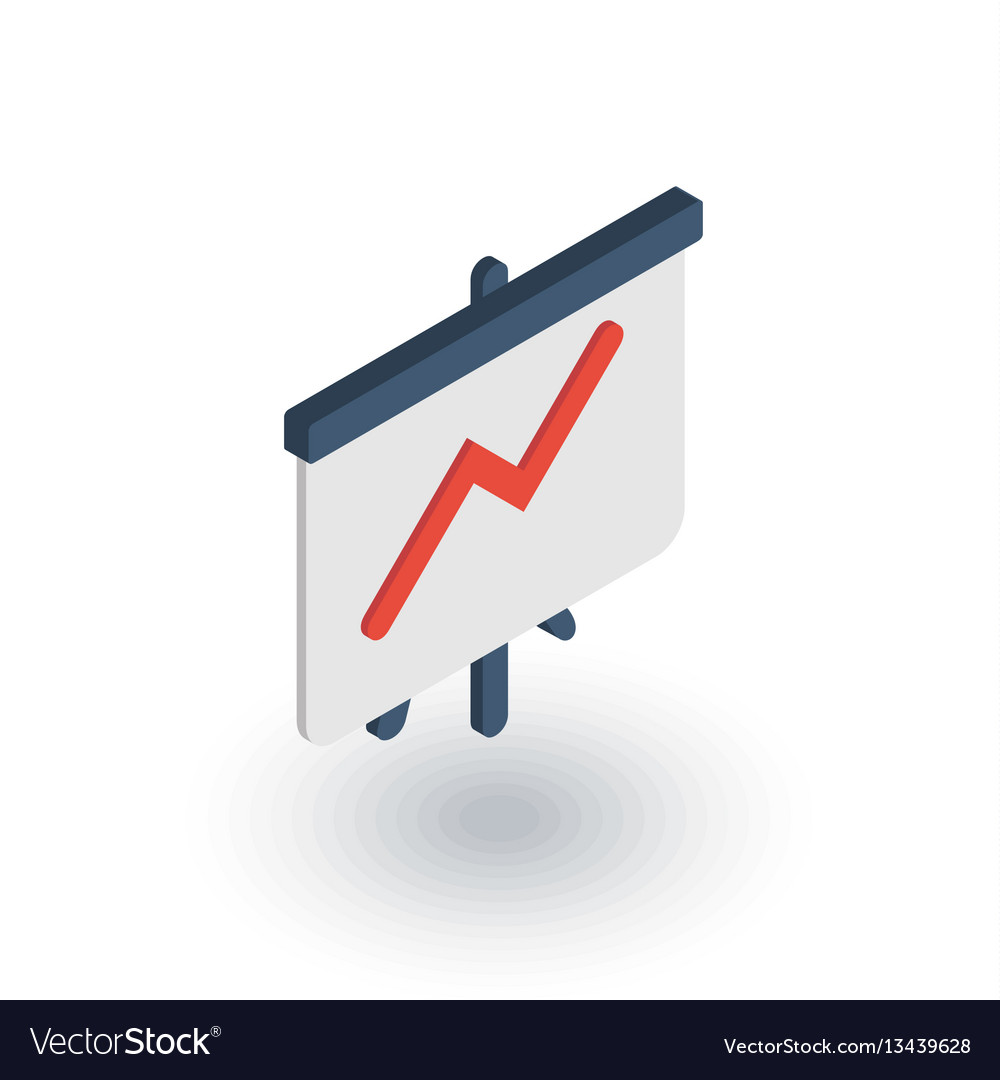 Growth graph chart market success arrow up vector image