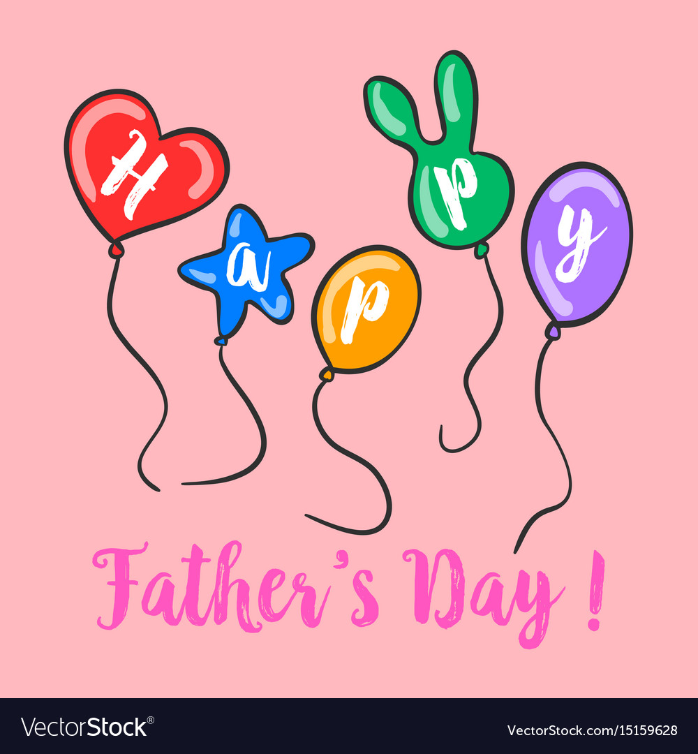 Happy father day colorful background vector image
