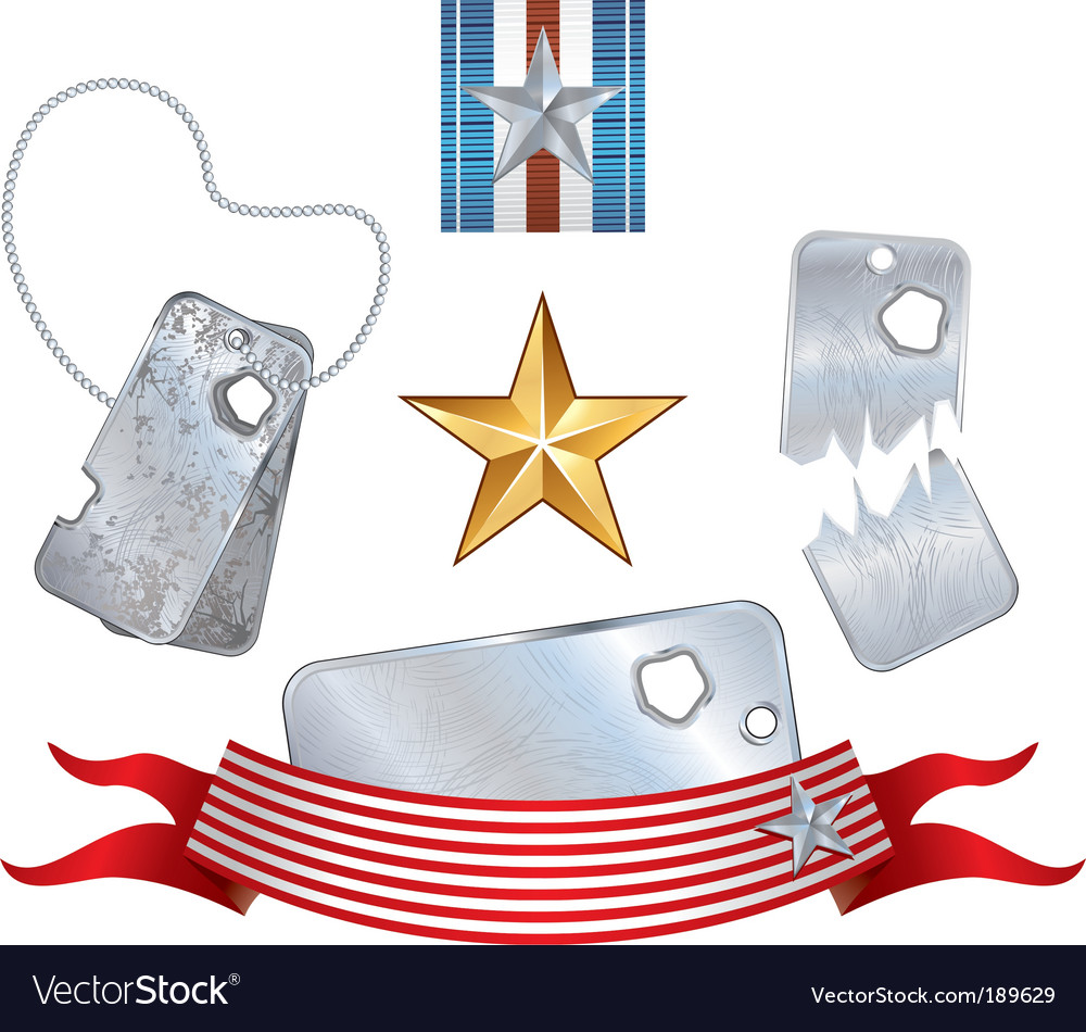 War symbols vector image