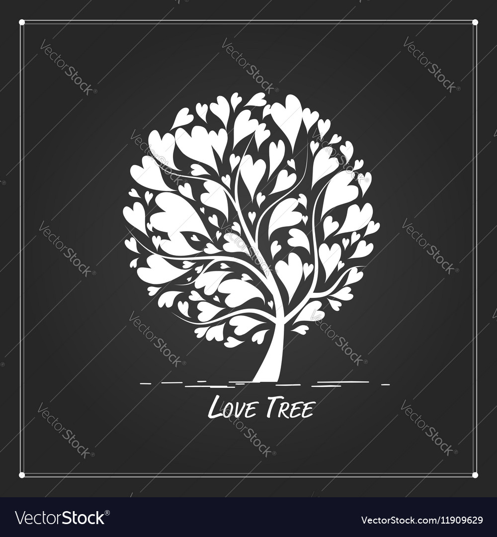 Love tree for your design vector image