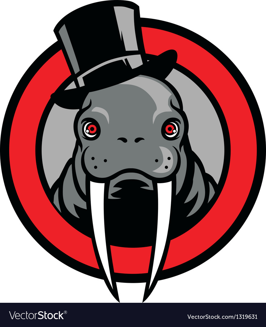 Walrus mascot vector image