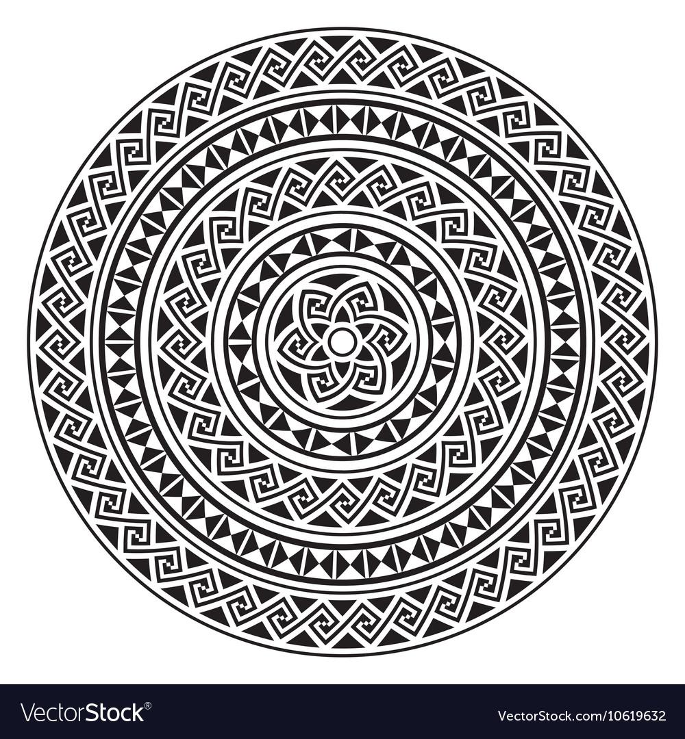 Monochromatic ethnic seamless textures vector image
