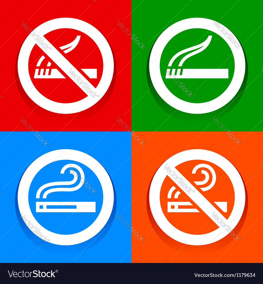 No smoking area symbol mydrlynx stickers multicolored no smoking area symbol vector image biocorpaavc Image collections