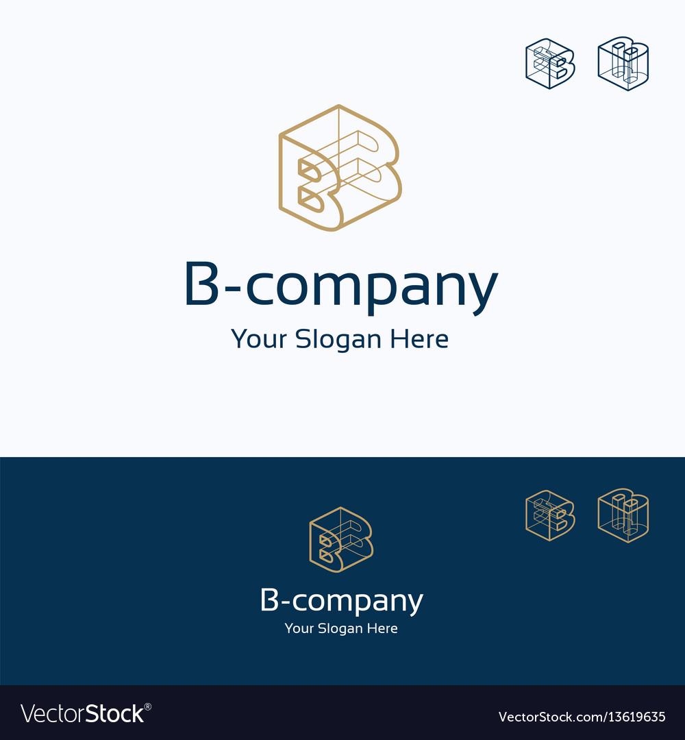 B company logo vector image