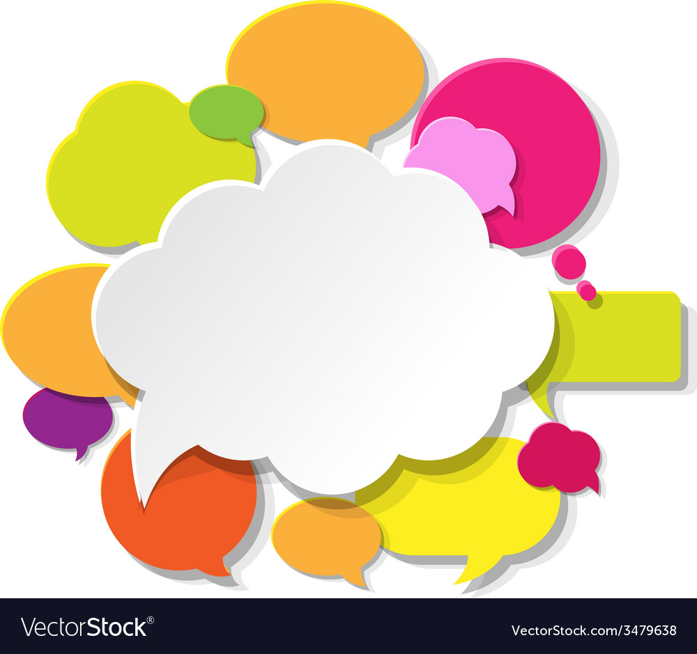 Colorful Speech Bubble Banner vector image
