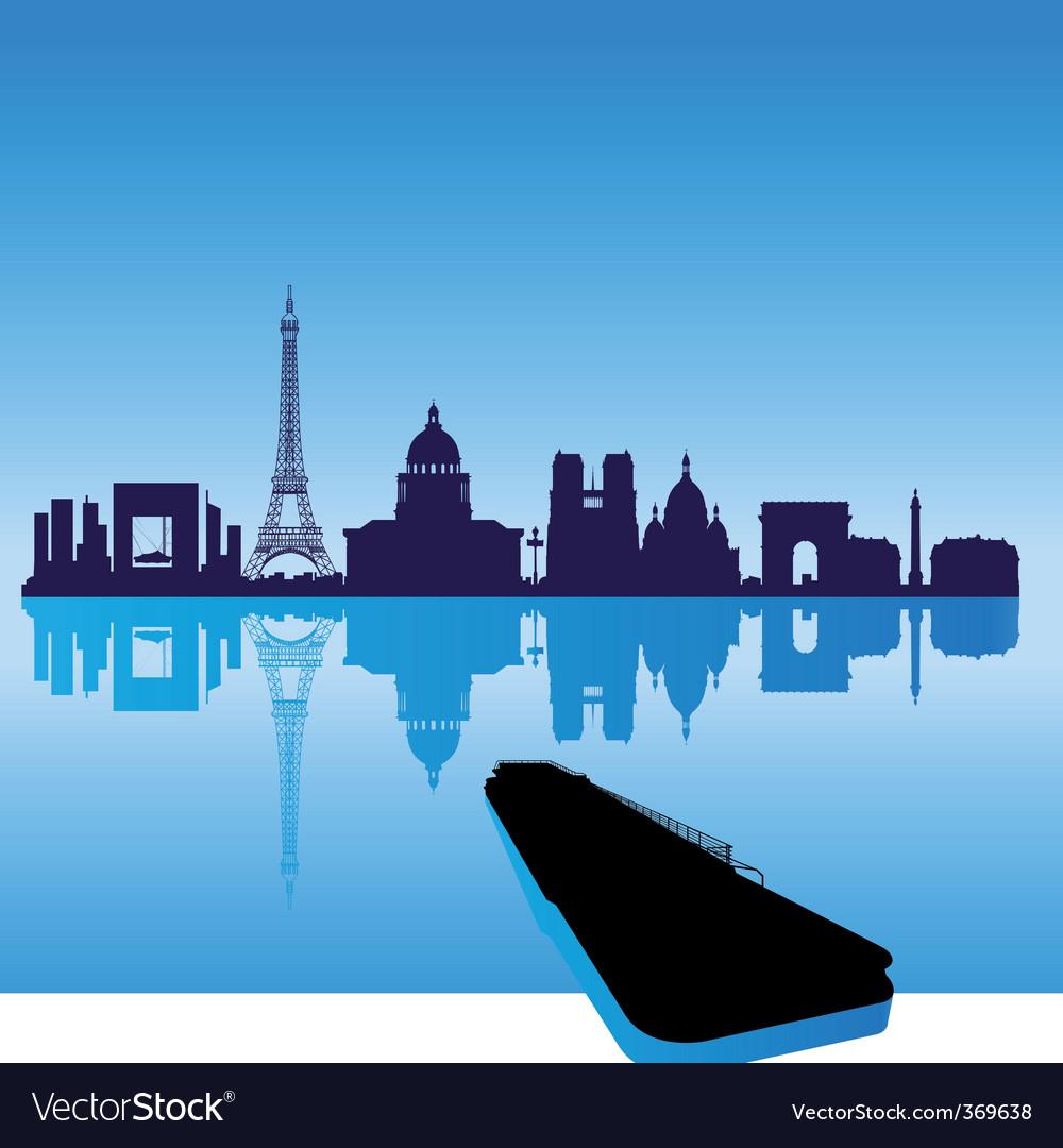 Paris silhouette skyline vector image
