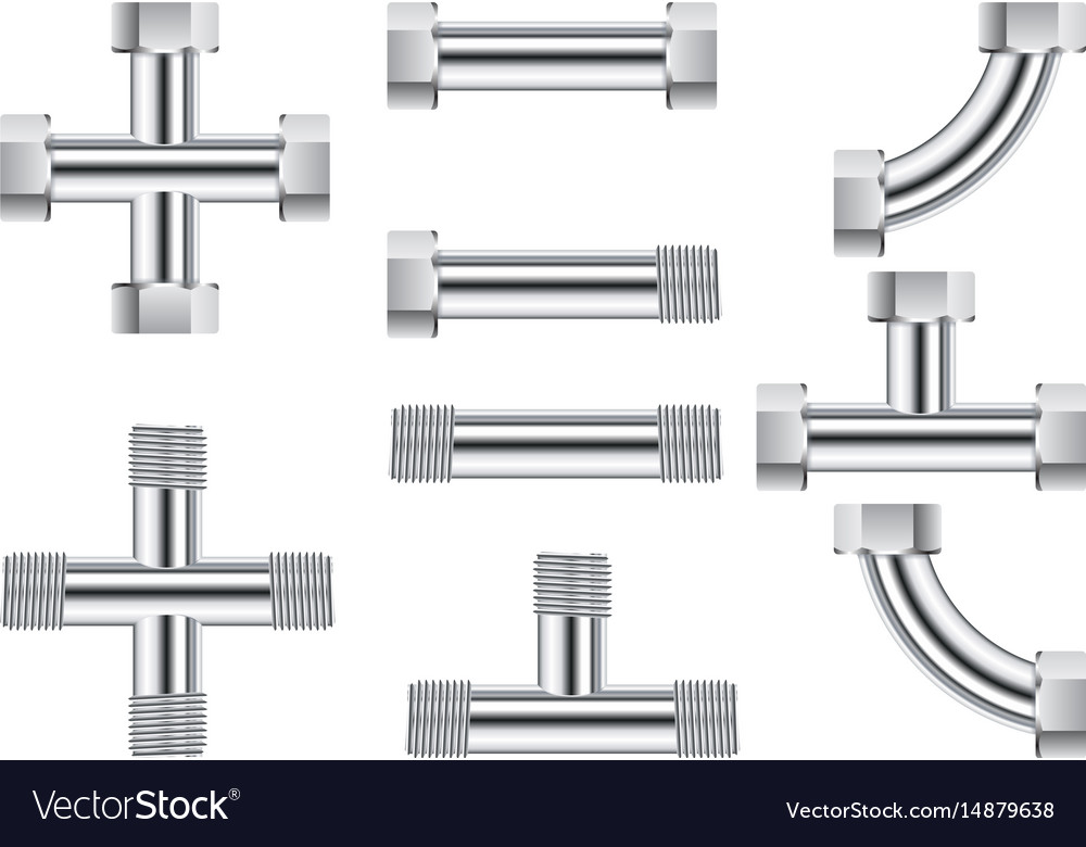 Pipes water metal pipe vector image